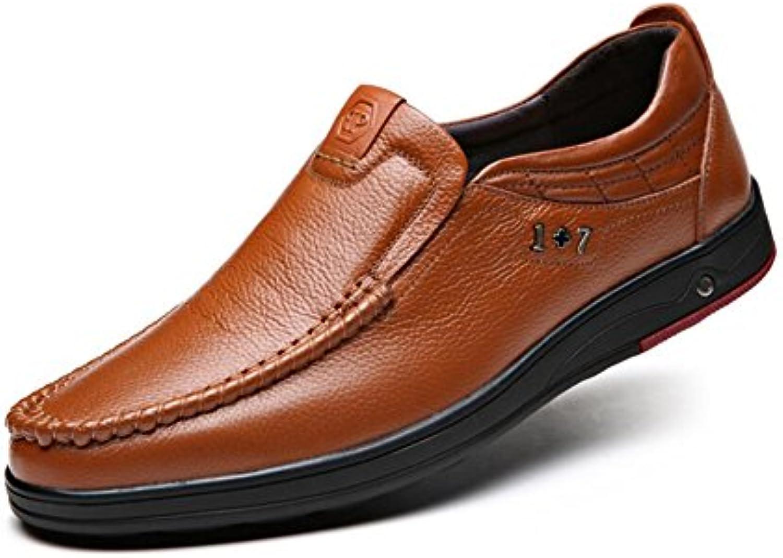 GFP Herren Lederschuhe  Formale Business Arbeitsschuhe  Flache Loafers Breathable Herrenmode Schuhe  Hochzeitsschuhe