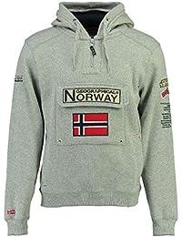 Geographical Norway Sudadera DE Hombre GYMCLASS B Gris Melange