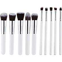 Abody Set de Brochas Cosméticas 10pcsCepillos Pinceles de Maquillaje Profesional de Mango de Madera