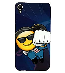 Fuson Designer Back Case Cover for HTC Desire 828 Dual Sim (Smiley Emoticon punching Smashing Knocking)