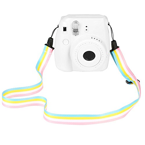 Rainbow Shoulder Neck Strap : SAIKA Camera Shoulder Strap For Fujifilm Instax Mini 8 / 8+ / 9 / 7s / 25 / 26 / 50s / 70 / 90 Instant Camera, Rainbow Colorful Adjustable Belt Neck Strap For Polaroid Camera And Digital Camera