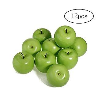 Asien Rmote 12pzas Decorative Large Artificial Fake Green Apple Plastic Fruits Home