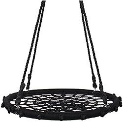 Yorbay - Balançoire nid - 120cm de diamètre - Gamme Feldus - pour Enfants et Adultes - Noir