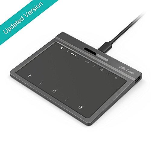Jelly Comb Touchpad USB, Multi Touch Ratón para PC con Sistema WIN7, WIN10, tamaño de 151x118.6x11.9mm,Negro