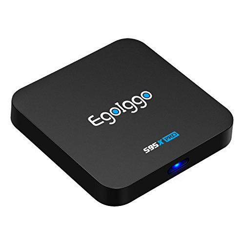 Android TV Box TICTID S95X Pro Smart TV Box mit Amlogic S905X Quad-Core Prozessor, 2GB DDR3 +16GB ROM, 100M LAN/2.4g WiFi, H.265 Hardware Video-Decoder (4K) Video-decoder