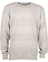 2016 Billabong All Day Stripes Crew Neck Sweater MID GREY HEATHER Z1JP02