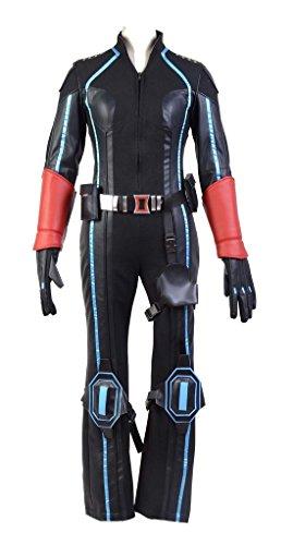 The Avengers Black Widow Cosplay Kostüm Natasha Romanoff Karneval Kostüm Für Erwachsene Damen Schwarz (Widow Black Erwachsene Kostüm Avengers)