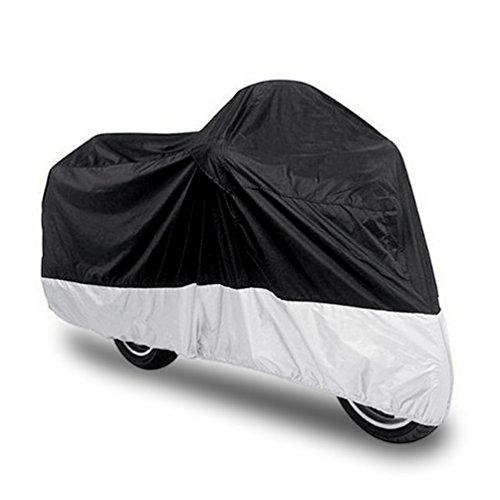 Preisvergleich Produktbild Motorradabdeckung Motorrad Garage 210D Polyester Abdeckplane Roller Schutzhülle Cover - 220 x 95 x 110 CM Größe L