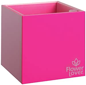 Greemotion Flower Lover Cubico 616404 Square Plant Pot 9 x 9 x 9 cm Pink