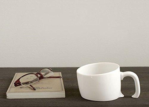 Mug original et design, la tasse déco à effet penché blanche
