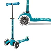 Micro Mini Led Deluxe Light Up Scooter Aqua 2-5 Years Tilt And Lean Toddler Childrens 3 Wheel