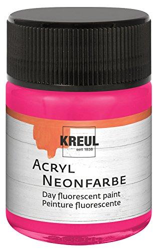 KREUL Acrylique Couleur Fluo, Verre de 50 ML, Rose Fluo