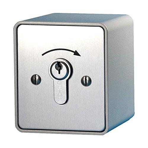 BAUER - Schlüsselschalter AP 1 Schliesser   Torantrieb, Garagentor, Antrieb, Schiebetor, Garage, Einfahrt