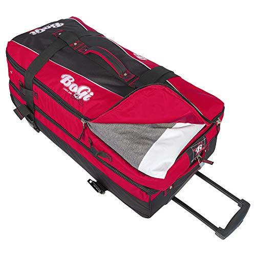 BoGi Bag Unisex– Erwachsene Reistrolley 110 Liter-Rot/Schwarz Reisetasche 85 cm - 5