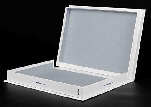 A3weiß Box 50mm tief mit 10A3Archivierung Archivhüllen säurefrei (A3) (Archivierung Foto-speicher)