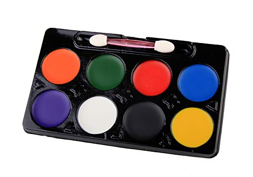 Bashley Kinderschminken Set - Kinderschminken & Körperfarbe 8 Farben Sicheres & Ungiftiges Waschbares Make-up Set, Ideal für Halloween Kostüme, Geburtstagsfeiern