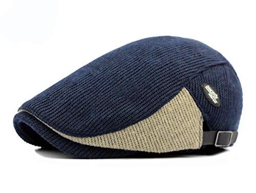 1cb84999f54c73 Baishide Herren Schiebermütze Golfermütze Klassischer Knit Woll Winter  Flache Kappe (Blau)