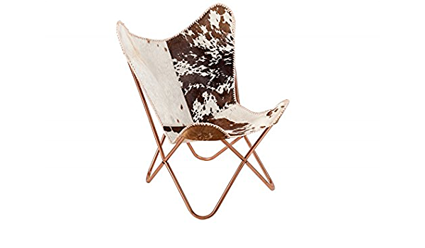 Butterfly Sessel Stuhl TEXAS braun Leinen Loungesessel Esszimmer Design NEU