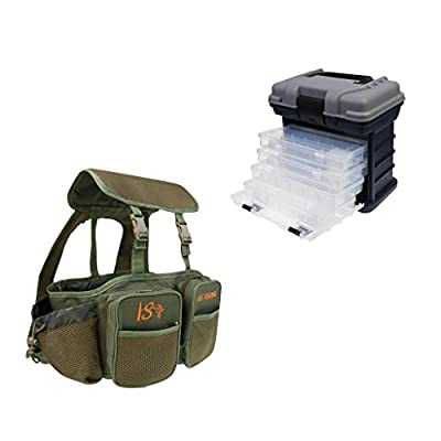 MagiDeal Storage Carry Case With 4 Adjustable Compartment Storage Boxes Fishing Tackle Box and Seat Box Backpack by MagiDeal