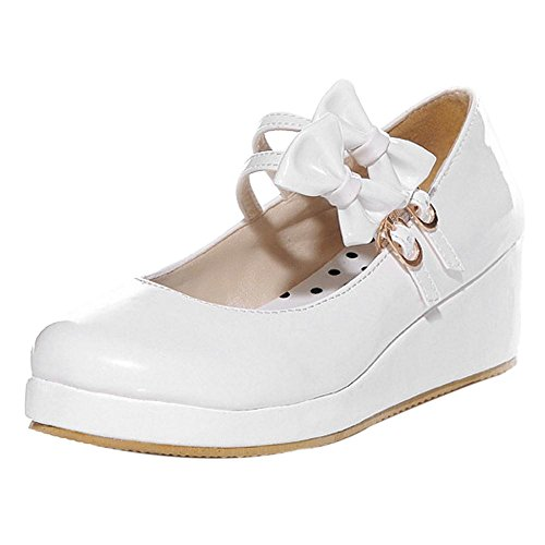 Coolcept Femmes Tricoter Plateforme Chaussures White-1