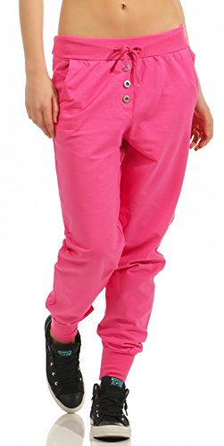 Damen Freizeithose Sporthose Sweat Pants lang (623), Grösse:M / 38, Farbe:Pink