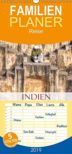 Indien - Eine Fotoreise vom Norden bis in den Süden - Familienplaner hoch (Wandkalender 2019 , 21 cm x 45 cm, hoch): Eine farbenfrohe Reise vom Norden ... Landes (Monatskalender, 14 Seiten )