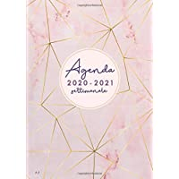 Agenda settimanale 2020 2021 A5: Agenda 2020/2021 giornaliera italiano | 18 mesi |  luglio 2020 – dicembre 2021 | marmo rosa e strisce PDF Libri
