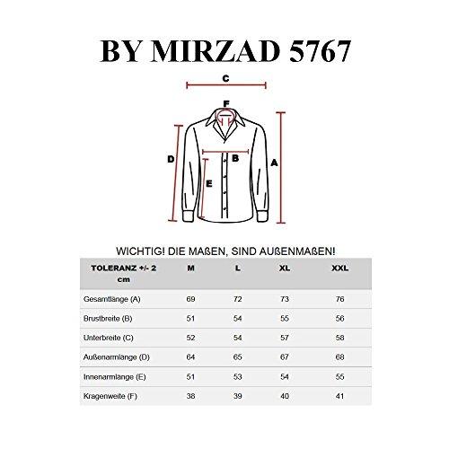 BOLF – Chemise casual – avec manches longues – BY MIRZAD 5767 – Homme Bordeaux