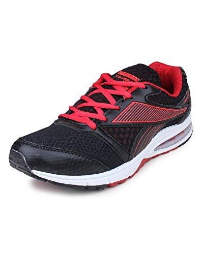 Columbus AirZone 02 Mesh Basketball shoes for Men (8 UK, BlackRed)