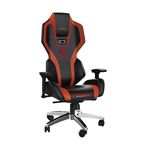 SYMTOP E-Blue Auroza Gaming Lighting Chair Black Red Ergonomic Computer eSports Desk Executive LED Lights EEC301R