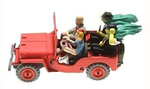 """Tintin et Milou: Tim & Struppi - Modellauto Roter Jeep mit """"certificat d´Authenticité"""""""