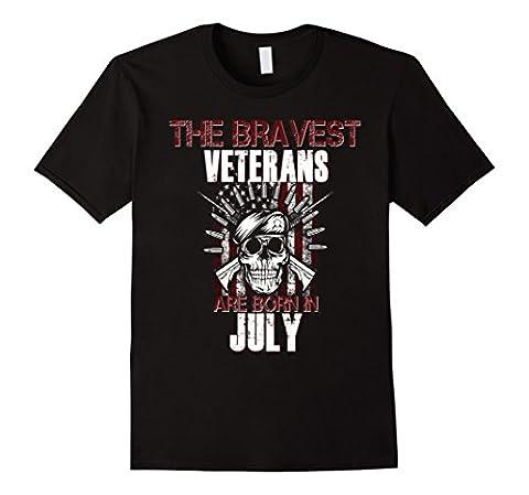 Men's Bravest Veterans Are Born in July Birthday Shirt USA