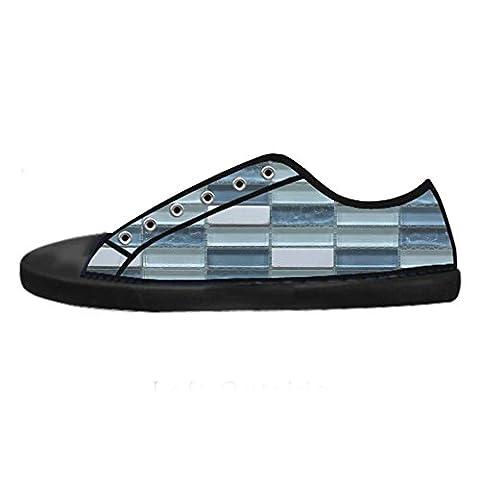 Dalliy Glass mosaic texture tile Women's Canvas Shoes Lace-up High-top Footwear Sneakers Chaussures de toile Baskets
