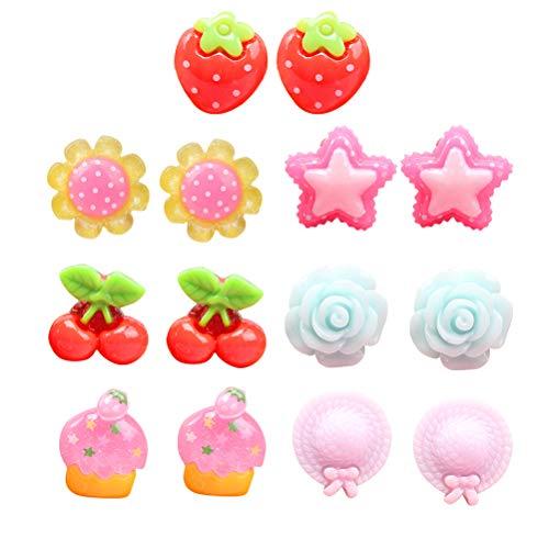 Toyvian Kinder Ohrclips Mädchen Ohrclips Ohrringe Anzieh Schmuck Spielzeug Geschenk 7 Paar