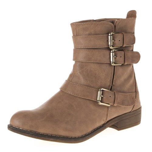 Damenschuhe STIEFELETTEN BOOTS Farben: Schwarz Braun Camel Beige Größen: 36 37 38 39 40 41 Hellbraun