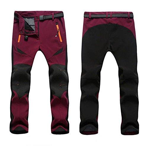 BRG315 Outdoor Imperméable À La Couture Coupe Soft Shell Pantalons Punch Pants Warm Fleece Escalade Pantalons pour Hommes Femmes