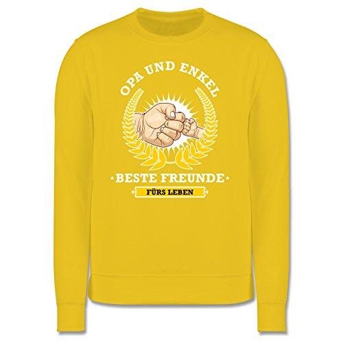 Opa - Opa und Enkel - beste Freunde fürs Leben - Herren Premium Pullover Gelb