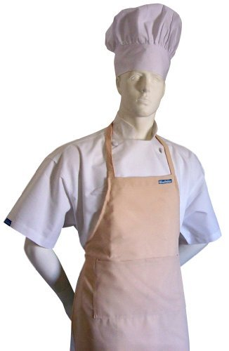 chefskin-adult-apron-kakhi-beige-sand-color-ultra-lightweight-cool-fresh-very-comfortable-center-poc