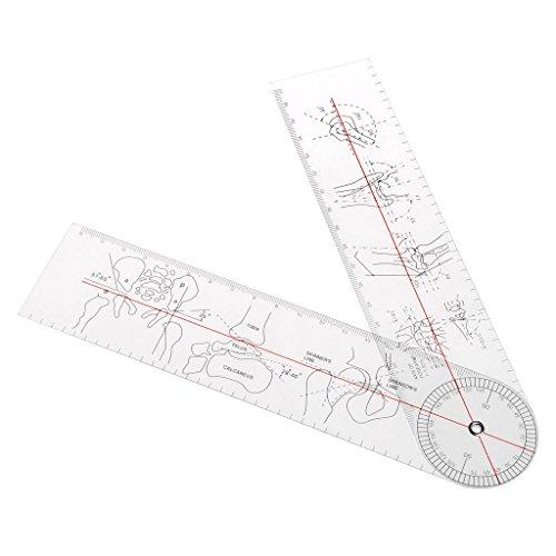 longsw goniómetro ángulo médico regla regla Junta orthopédie herramientas instrumentos de plástico