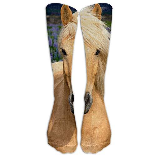 Yellow Horse Unisex Novelty Premium Calf High Athletic Socks Fashional Tube Stockings Size 6-10 19.68 inch