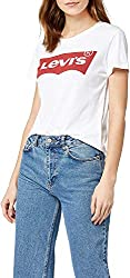 Levi's Damen T-Shirt, The Perfect Tee, Weiß (Batwing White Graphic 53),  Gr. M