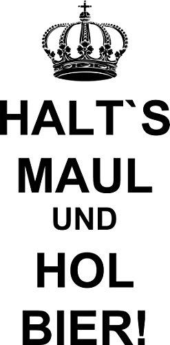 Mister Merchandise Tote Bag Halt´s Maul und hol Bier Borsa Bagaglio , Colore: Nero Naturale