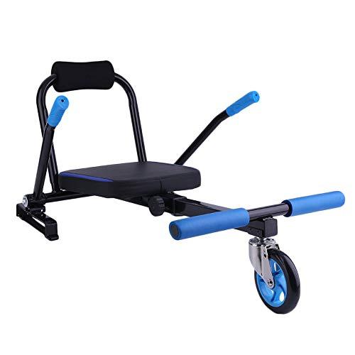 Fashionlook Creative Kart Style Hoverboard Kart 2 Ruote Scooter Elettrico Kart Seat Smart Balance Hoverboard Go Accessori di cartoncino-Black-1 Size
