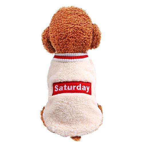 Fenverk_Haustier Hund Katze Winter Warm Rollkragen Sweatshirt Mantel KostüM Bekleidung Jacke Kleider Hoodies Jumper Zum HüNdchen Klein Mittel Groß Hunde Overall Kleidung(B Armeegrün,XL)