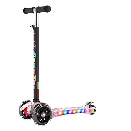 Roller Kinder 3-6-14 Kinder 2 Drei Oder Vier Räder Faltung Scooter Slider Spielzeug (Farbe : Bunte)