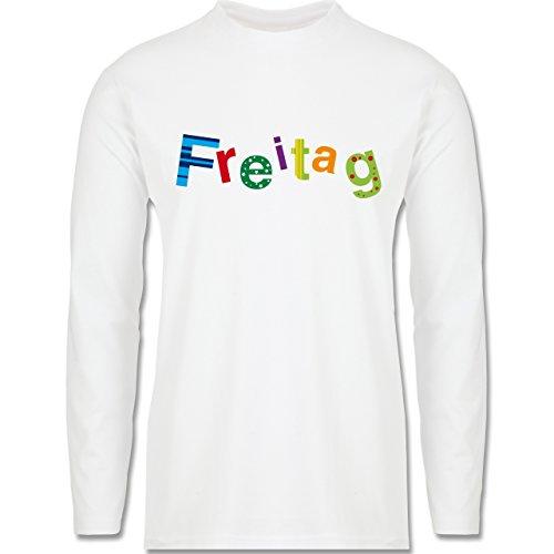 Statement Shirts - Freitag - Longsleeve / langärmeliges T-Shirt für Herren Weiß
