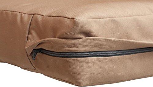 Gartenstuhl-Kissen Premium Lounge Sitzkissen Palettenkissen im Farbton sand ca. 80 x 80 cm ca. 9 cm dick aus 100% Polyester wasserabweisend