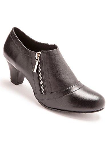 Pediconfort Boots zippées en cuir largeur confort - Noir - 38