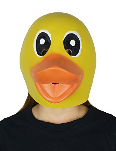 larpgears Halloween-Kostüm Party Latex Tiermaske Ente Gummi Maske für (Animaux D'halloween Kostüm)