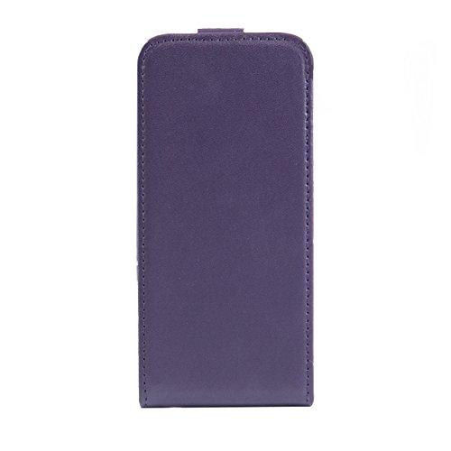 "iProtect Apple iPhone 6 (4,7"") 6s Hülle Flip Case Kunstledertasche Schutzhülle schwarz Flipcase Lila"